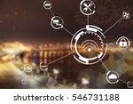 industry 4.0 concept. internet... | Shutterstock . vector #546731188