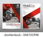 red flyer cover business... | Shutterstock .eps vector #546731998