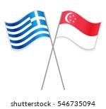 greek and singaporean crossed... | Shutterstock .eps vector #546735094