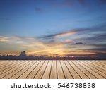 perspective wood floor brown... | Shutterstock . vector #546738838