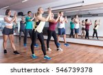 young cheerful people dancing... | Shutterstock . vector #546739378