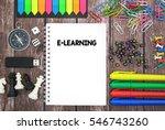 e learning | Shutterstock . vector #546743260