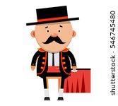 cartoon torreador. corrida.... | Shutterstock .eps vector #546745480