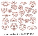ornamental design elements ... | Shutterstock .eps vector #546749458
