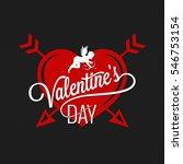 valentines day vintage... | Shutterstock .eps vector #546753154