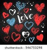 vector color chalk drawn... | Shutterstock .eps vector #546753298