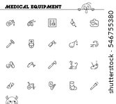medical equipment flat icon set.... | Shutterstock .eps vector #546755380