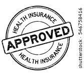 grunge black health insurance... | Shutterstock .eps vector #546758416