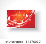beautiful gift card  vector... | Shutterstock .eps vector #54676030