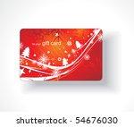 beautiful gift card  vector... | Shutterstock .eps vector #54676030