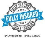fully insured. stamp. sticker.... | Shutterstock .eps vector #546762508