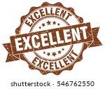 excellent. stamp. sticker. seal.... | Shutterstock .eps vector #546762550