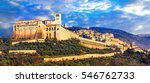 impressive medieval assisi town ... | Shutterstock . vector #546762733