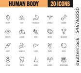 human body flat icon set.... | Shutterstock .eps vector #546763330