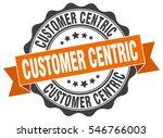 customer centric. stamp.... | Shutterstock .eps vector #546766003