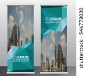 roll up business brochure flyer ... | Shutterstock .eps vector #546778030