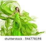 fashion woman flying dress ... | Shutterstock . vector #546778198