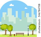 park  a public park  bench ... | Shutterstock .eps vector #546784708