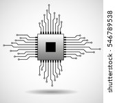 cpu. microprocessor. microchip. ... | Shutterstock .eps vector #546789538
