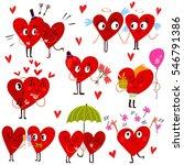 cartoon heart collection set of ... | Shutterstock .eps vector #546791386
