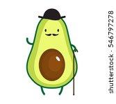 illustration of cute gentleman... | Shutterstock .eps vector #546797278