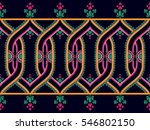 ethnic  pattern floral seamless ... | Shutterstock .eps vector #546802150