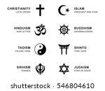 world religion symbols. eight... | Shutterstock .eps vector #546804610