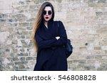 fashion pretty young woman... | Shutterstock . vector #546808828