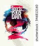 sports bar typographic vintage... | Shutterstock .eps vector #546813160