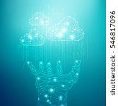 concept of cloud computing... | Shutterstock .eps vector #546817096