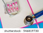 medical  medicine stethoscope... | Shutterstock . vector #546819730
