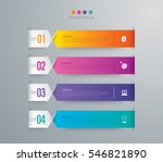 infographic design vector and... | Shutterstock .eps vector #546821890