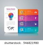 folder infographic design... | Shutterstock .eps vector #546821980