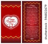 happy valentines day. brochure  ...   Shutterstock .eps vector #546822679