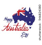 australia map with flag vector  ... | Shutterstock .eps vector #546824380