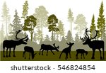 illustration with deers in... | Shutterstock .eps vector #546824854