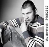 close up shot of a young man a... | Shutterstock . vector #54682912