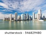 aerial view of miami... | Shutterstock . vector #546829480
