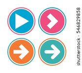 arrow icons. next navigation... | Shutterstock .eps vector #546829858