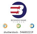 b letter logo template vector...