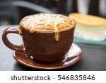 cup of coffee with caramel on... | Shutterstock . vector #546835846