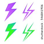 set of lightning signs. set of... | Shutterstock .eps vector #546841906