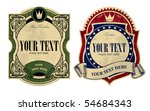 Stock vector vector image of two vintage labels 54684343