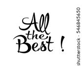 all the best. isolated...   Shutterstock .eps vector #546845650