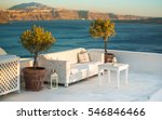outdoor white table and sofas... | Shutterstock . vector #546846466