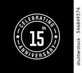 15th white anniversary logo ... | Shutterstock .eps vector #546849574