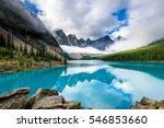 moraine lake in banff national...   Shutterstock . vector #546853660