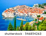 Dubrovnik  Croatia. Picturesqu...