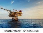 offshore construction platform... | Shutterstock . vector #546858358