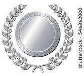 illustration of silver medal on ...   Shutterstock .eps vector #546862000